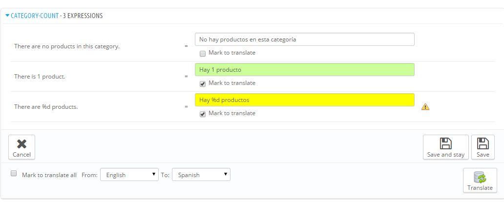 Prestashop Module Translate Translations - translations color guide