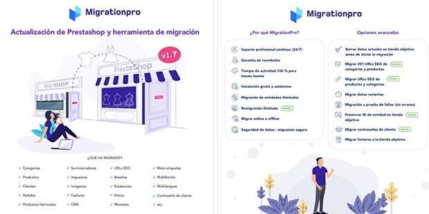 1)Actualización de Prestashop y herramienta de migración